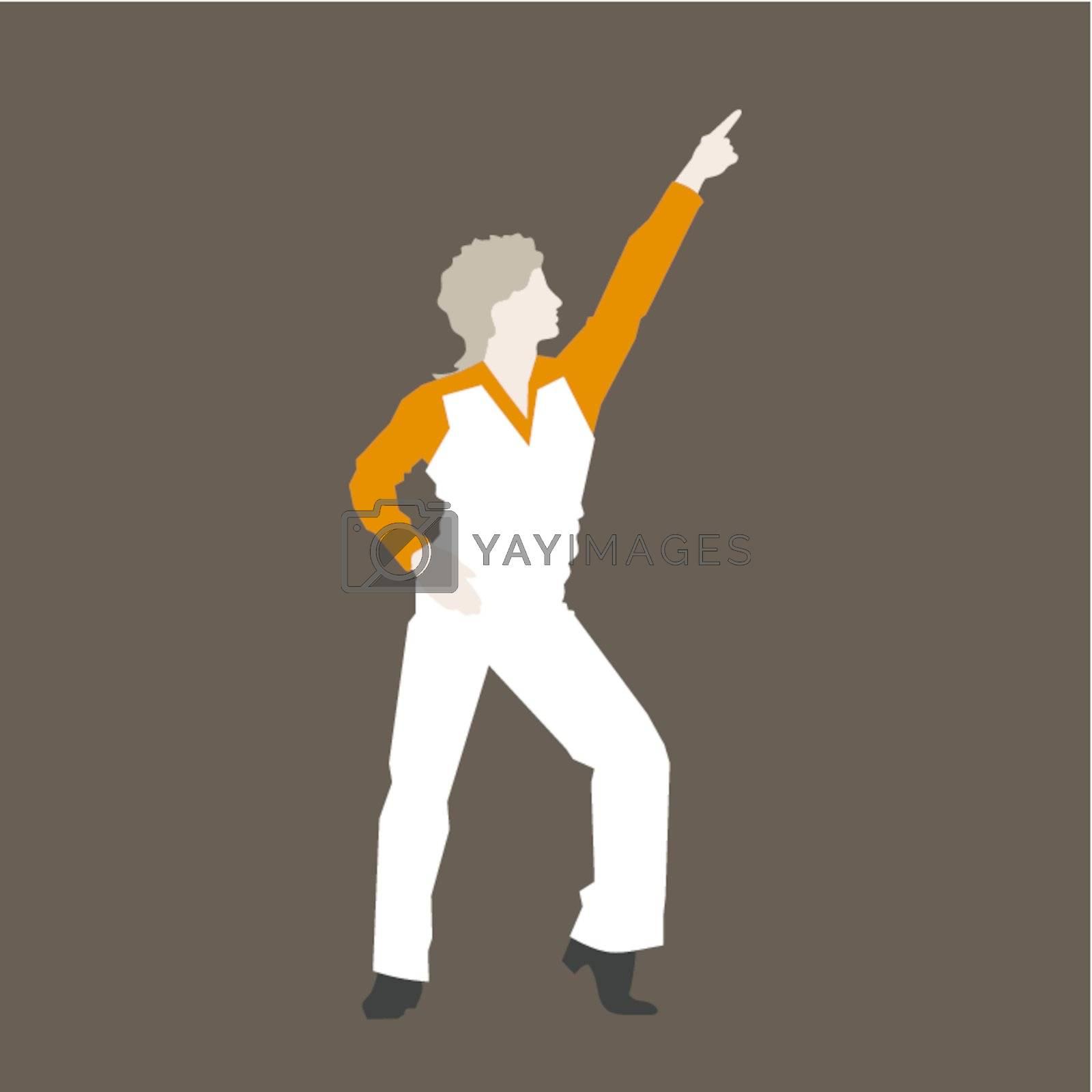 Retro the dancer of a disco. A vector illustration