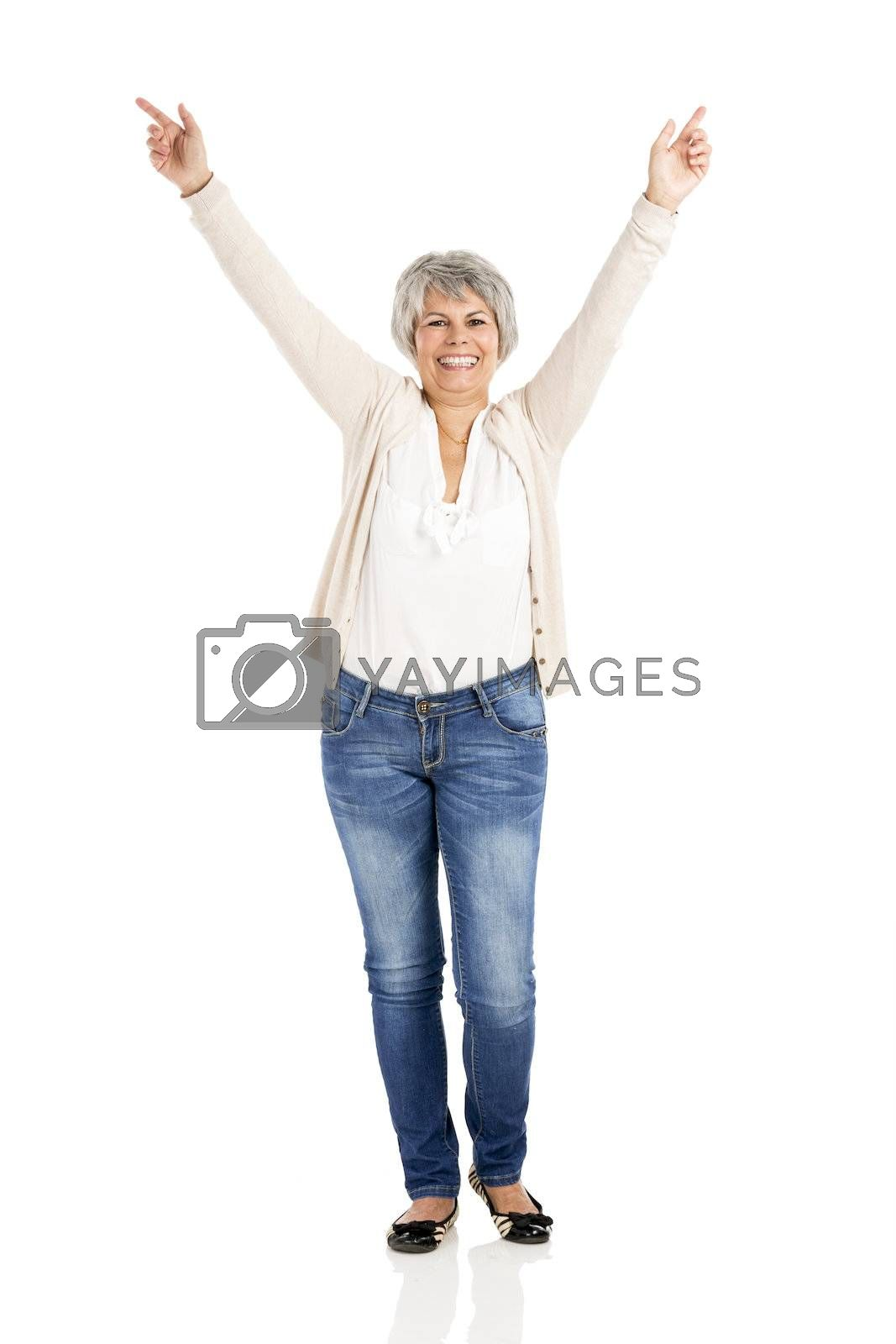 Royalty free image of Happy Elderly woman by Iko