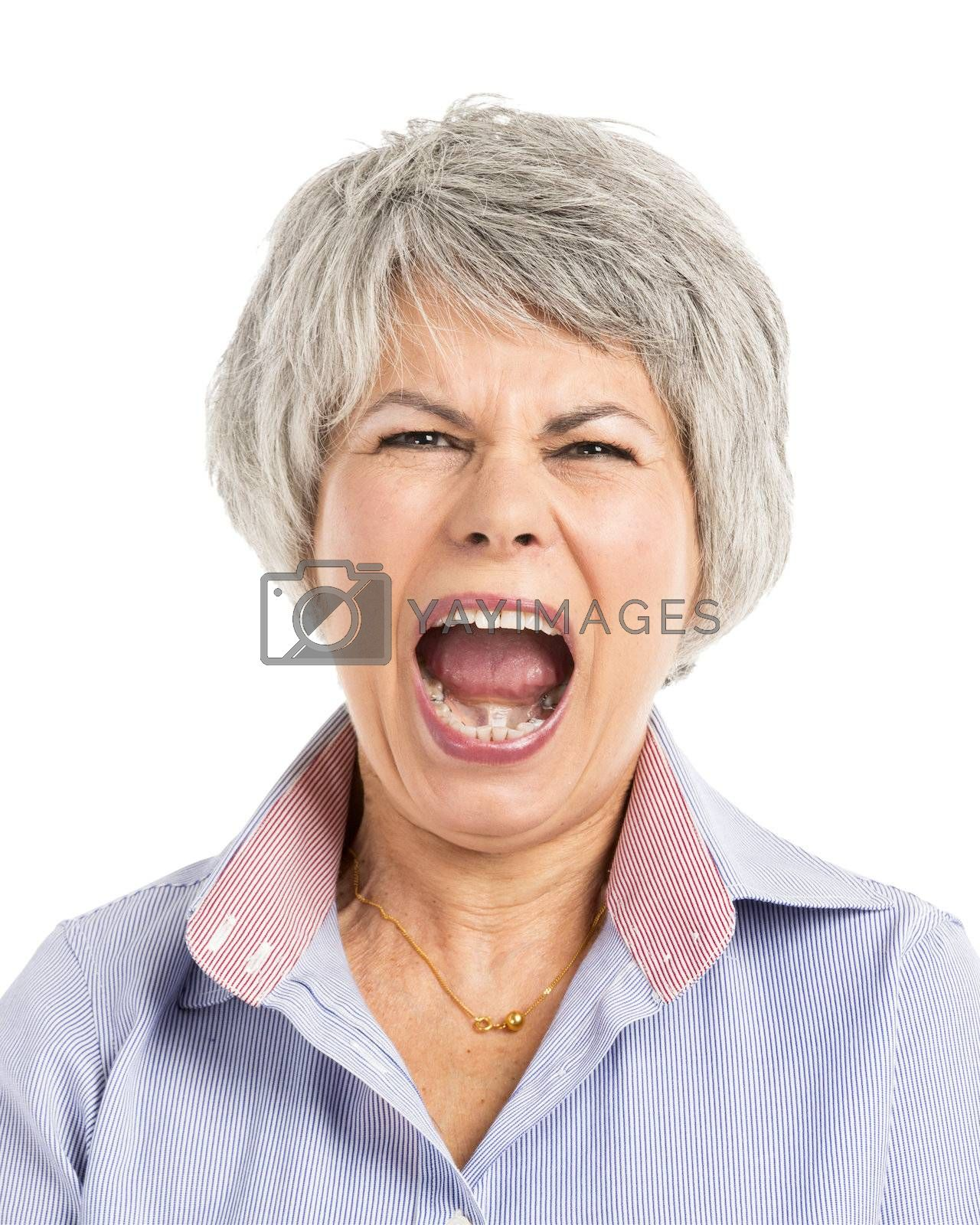 Royalty free image of Yelling Expression by Iko
