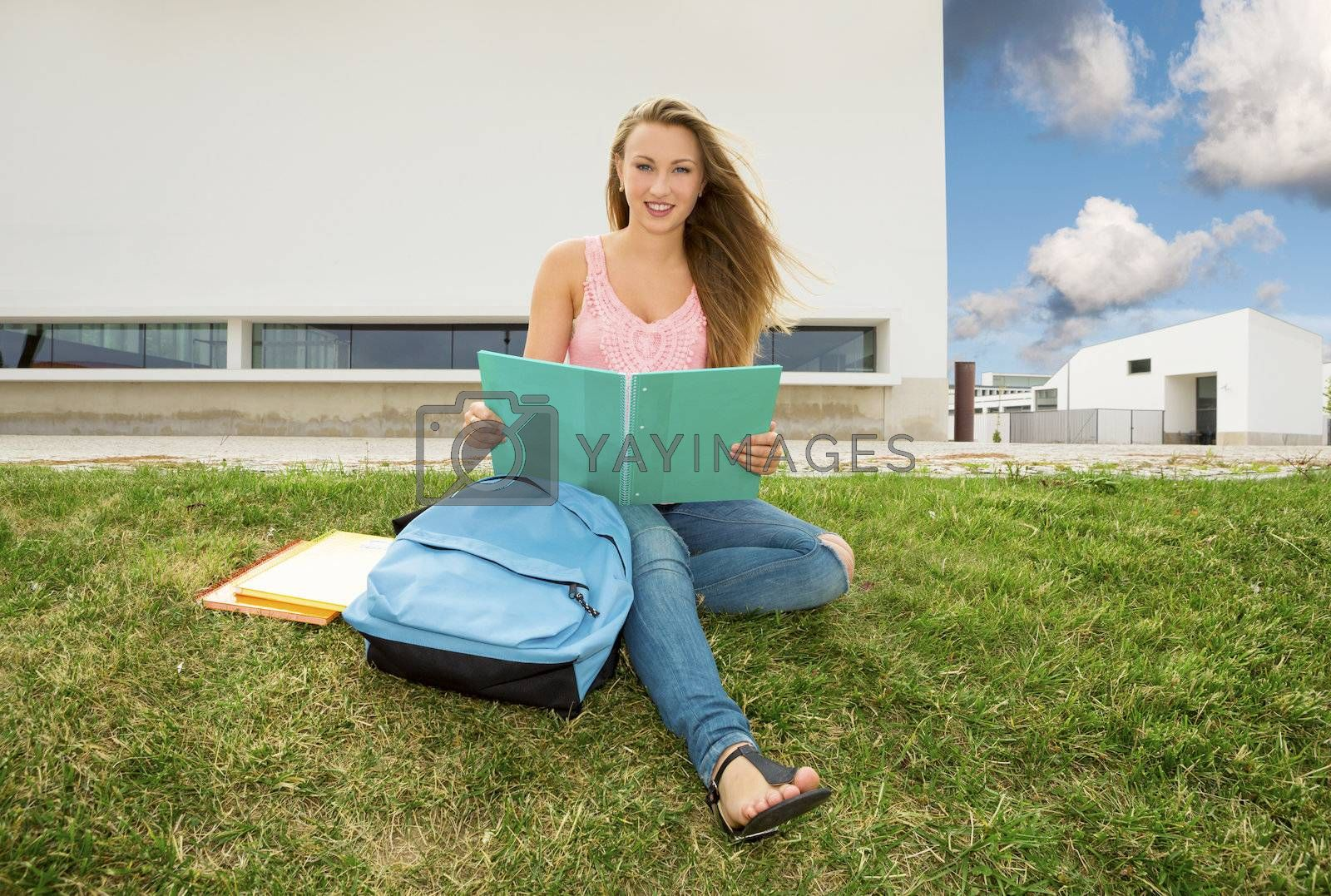 Royalty free image of Beautiful teenager student by Iko