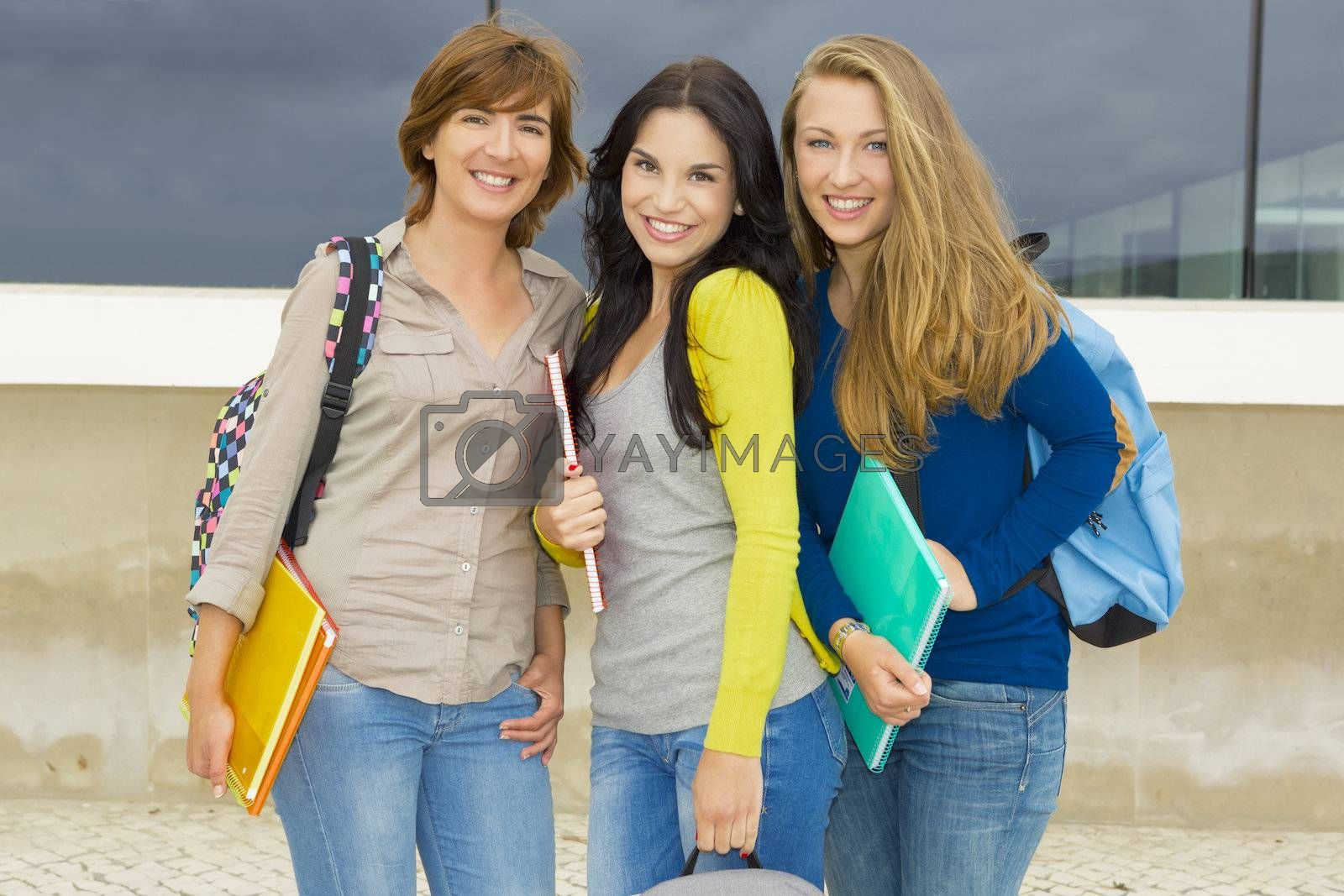 Royalty free image of Happy group of students by Iko