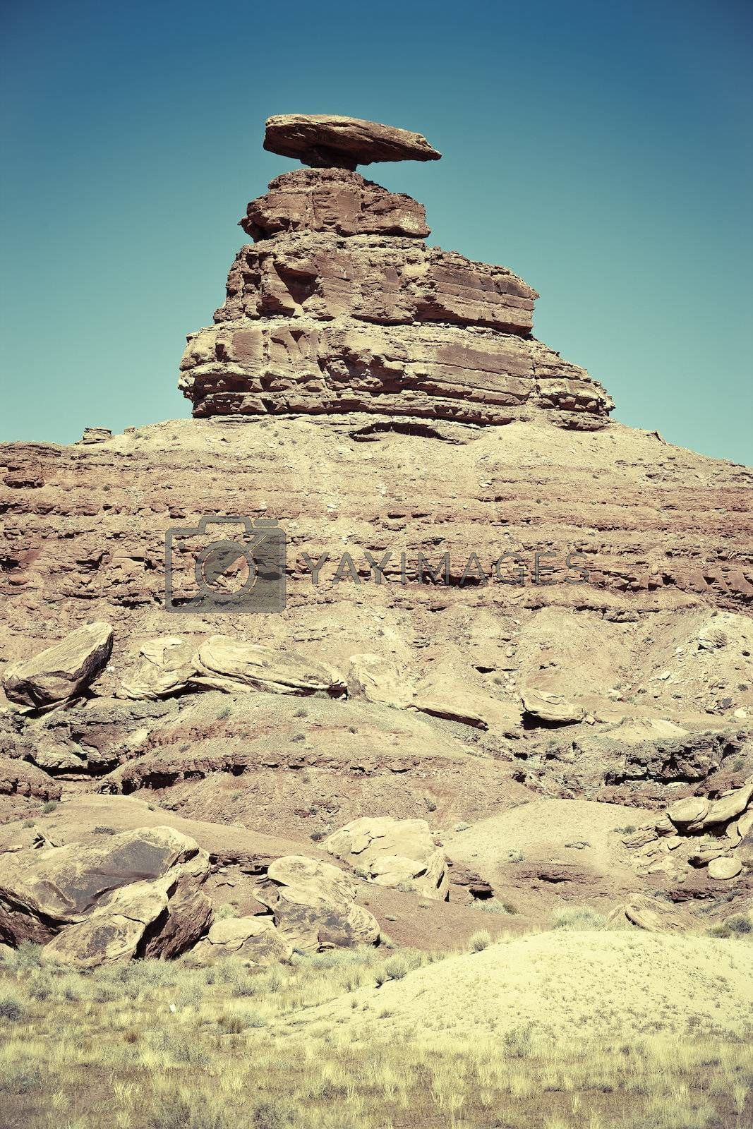 Royalty free image of The Mexican Hat rock formation by vwalakte