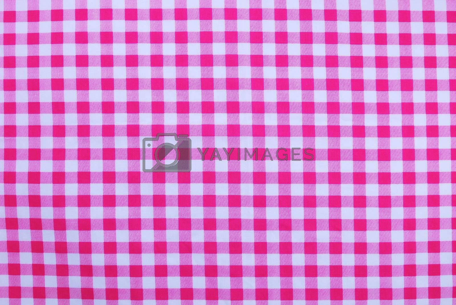 Royalty free image of Pink checkered tablecloth texture  by teen00000
