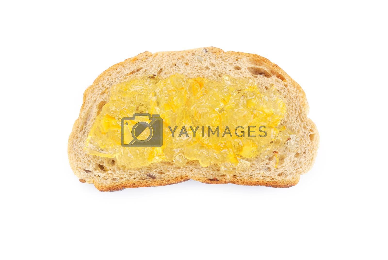 Royalty free image of Orange jam and Wholegrain bread by teen00000