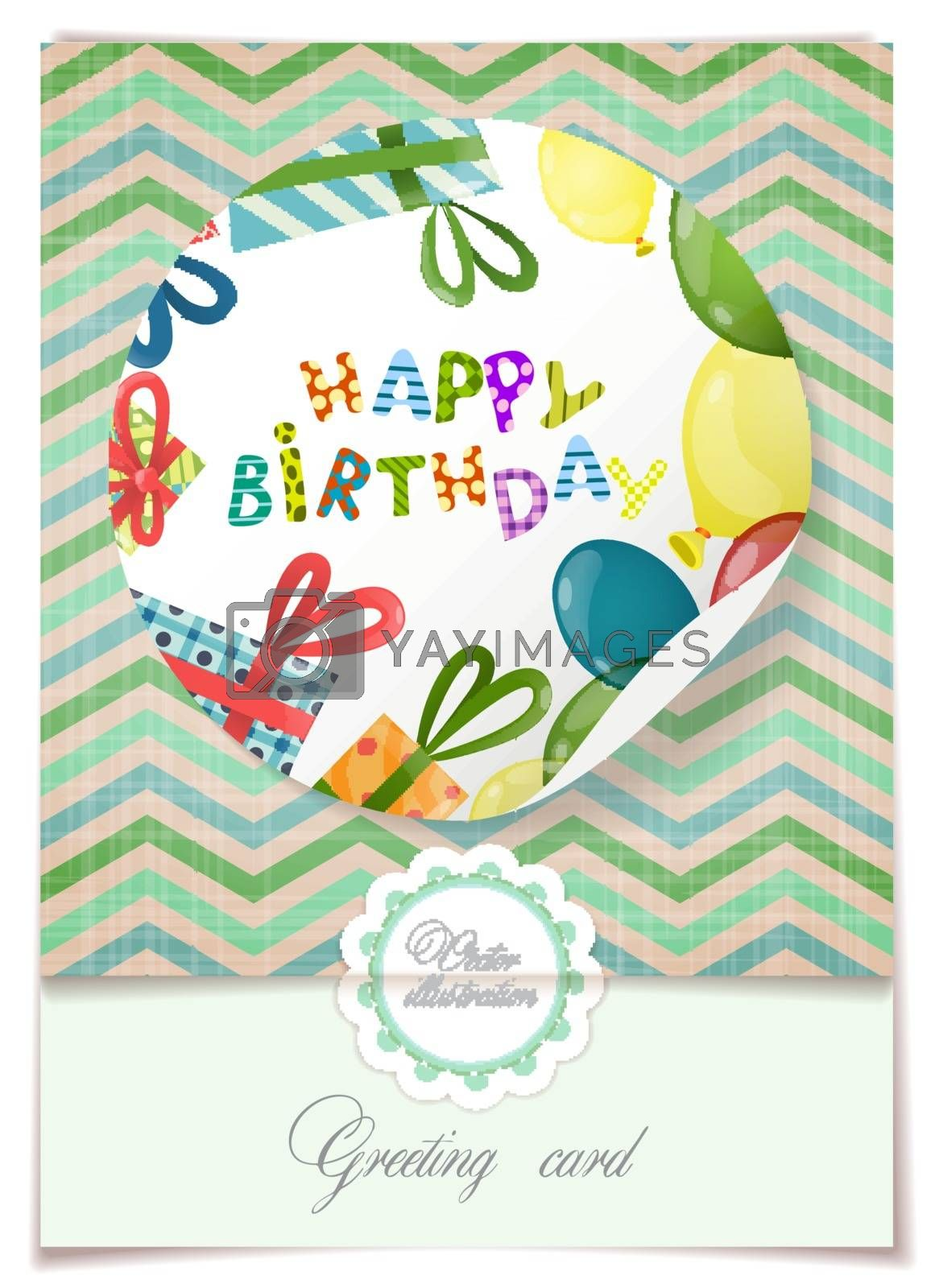 Royalty free image of Greeting Card Design, Template by HelenStock