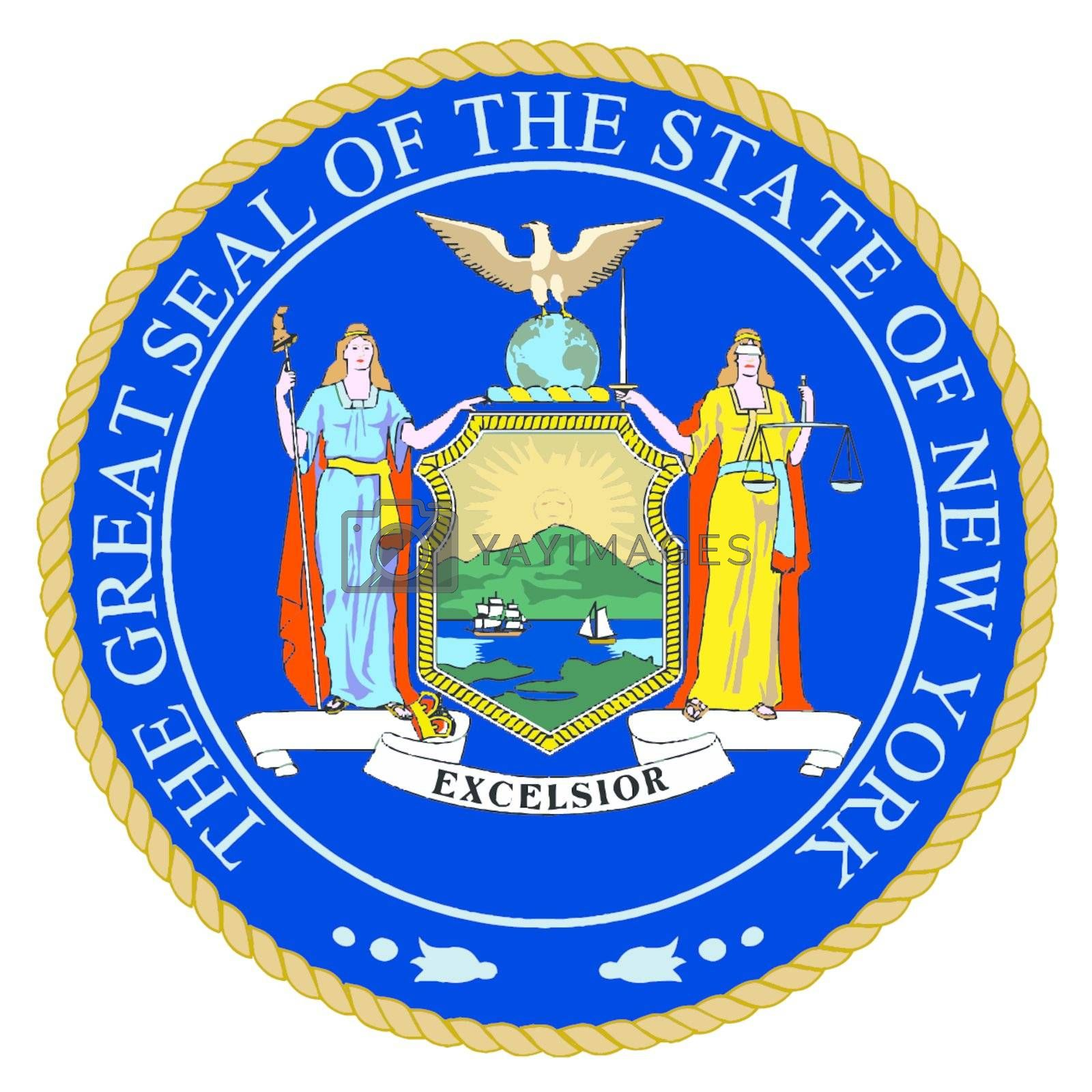 Royalty free image of New York State Seal by Bigalbaloo