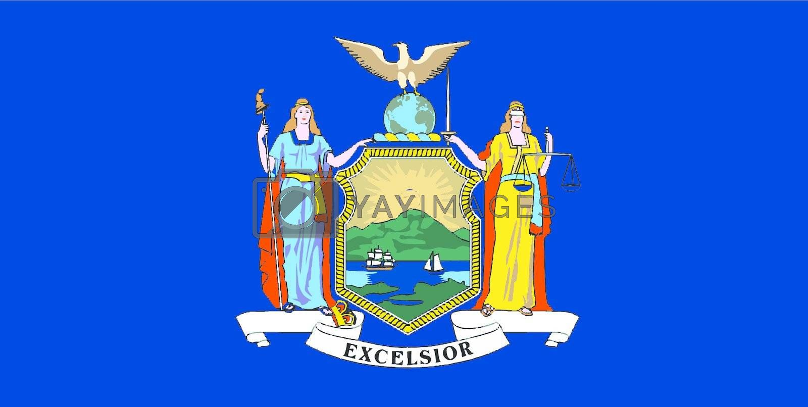 Royalty free image of New York State Flag by Bigalbaloo