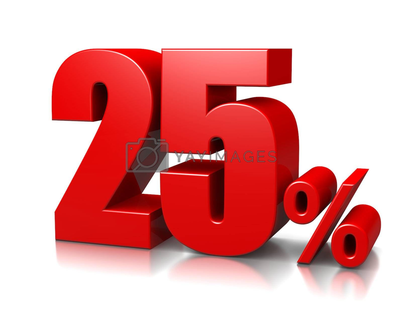 Royalty free image of 25 Percent by make