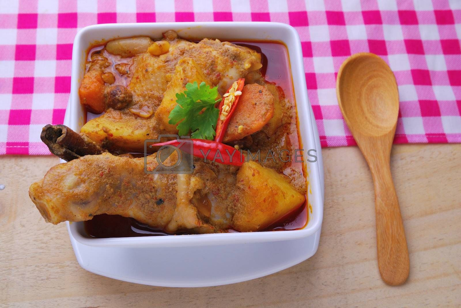 Royalty free image of Spicy curry chicken  by teen00000