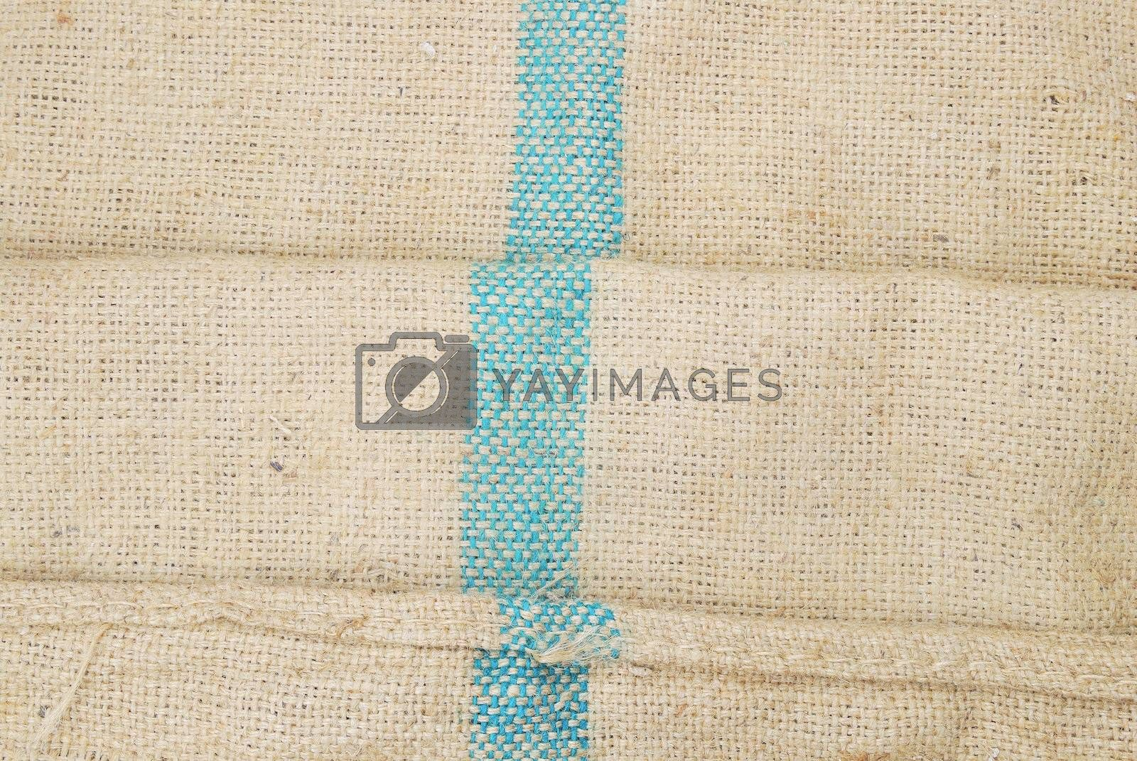 Royalty free image of Gunny sack texture background by teen00000