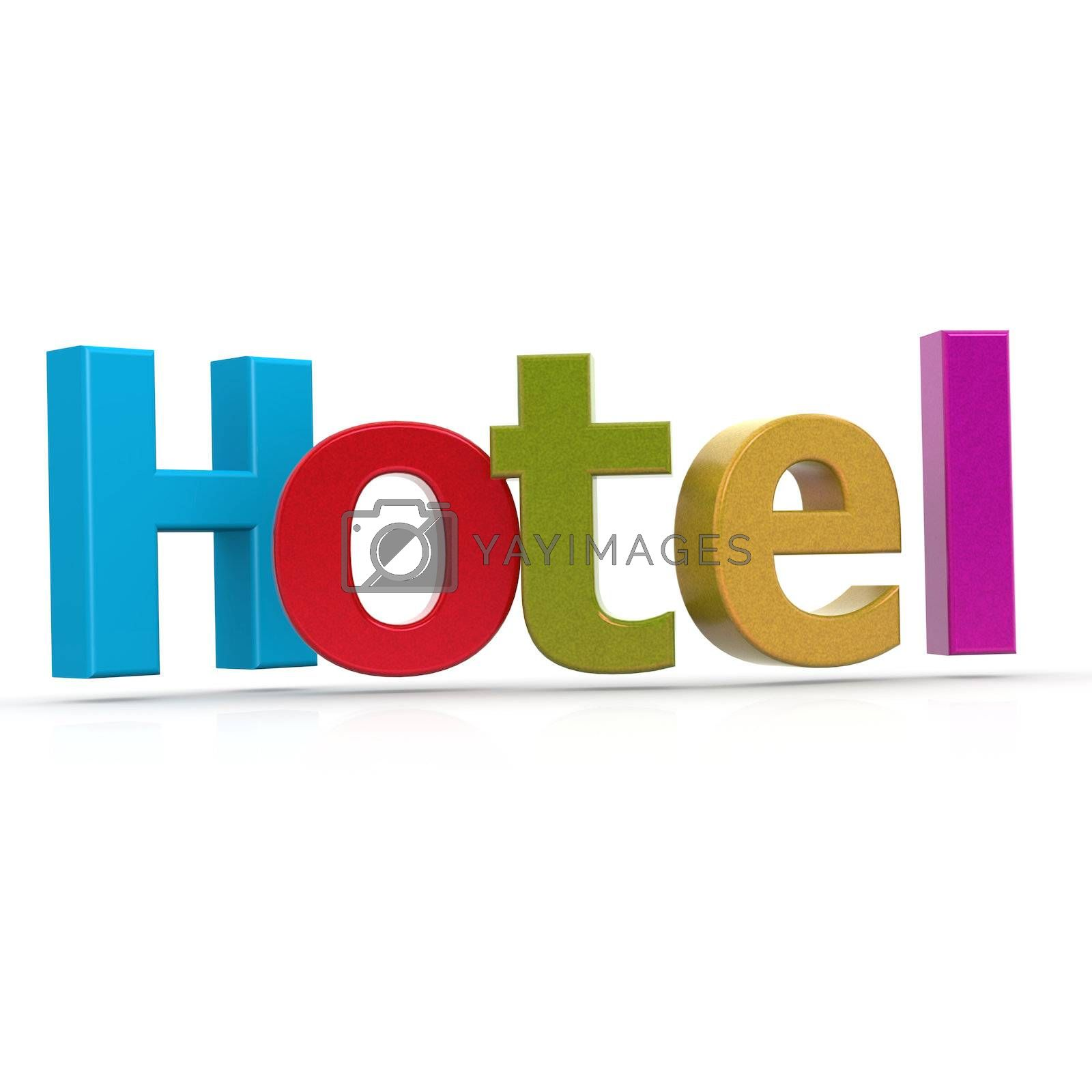 Royalty free image of Hotel word by tang90246