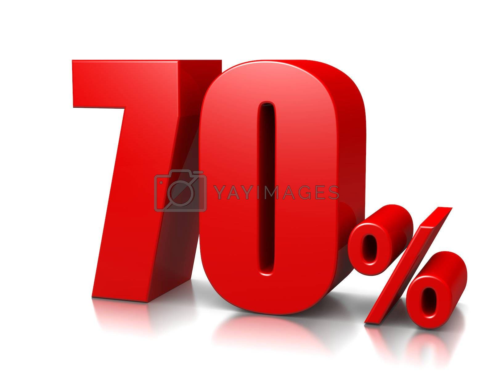 Royalty free image of 70 Percent by make