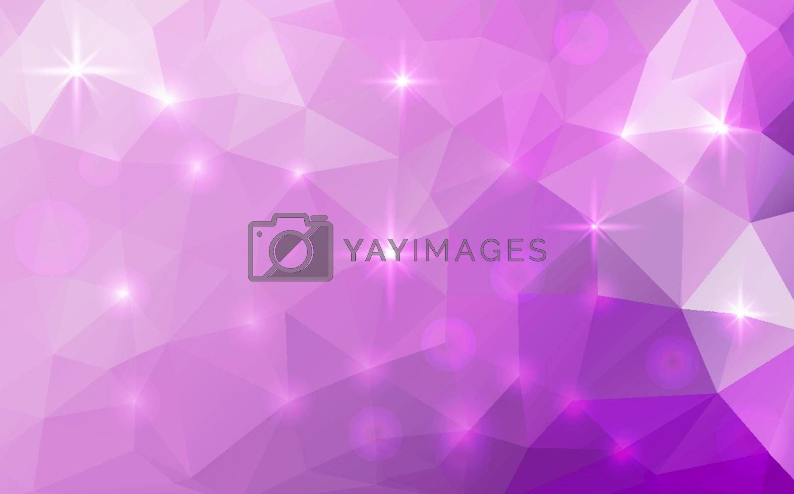 Royalty free image of Vector abstract polygonal cosmic background by Olka