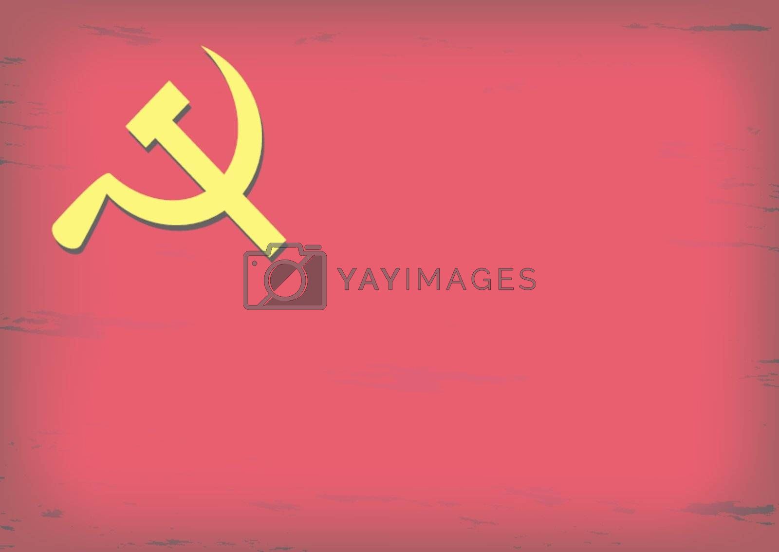 Royalty free image of Russian or Communist flags hammer and sickle, vector illustratio by Thanamat