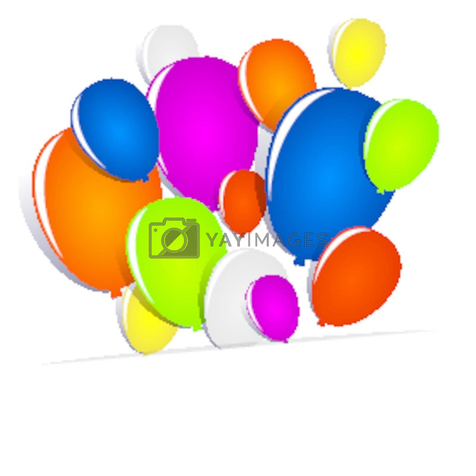 Royalty free image of Multicolored Balloons by nicousnake