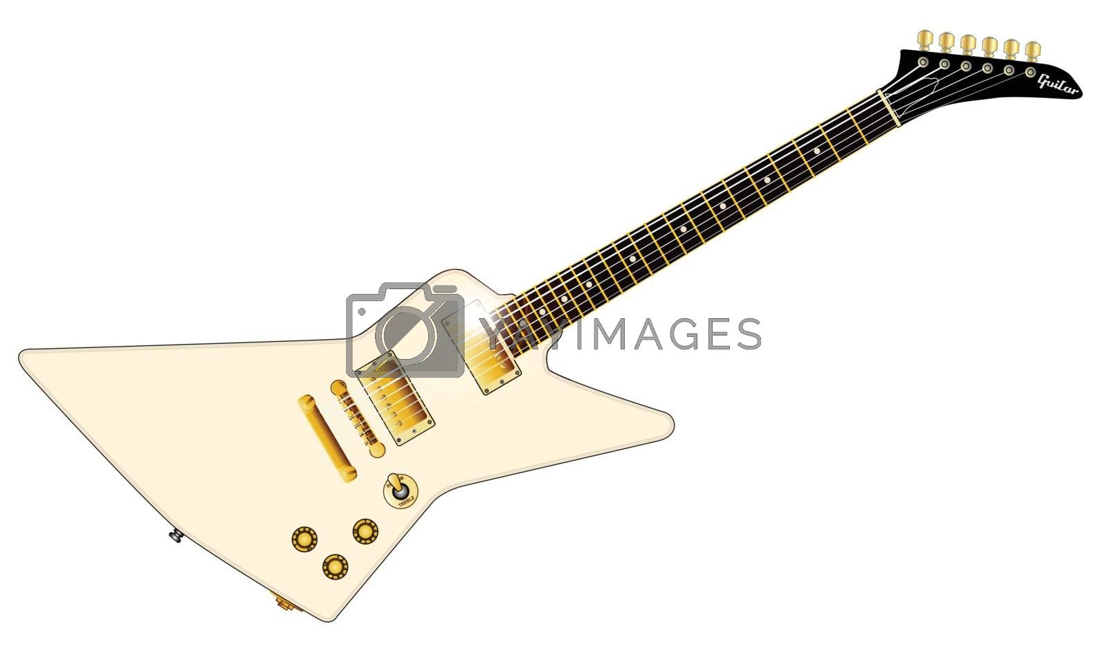 Royalty free image of Modern Electric Guitar by Bigalbaloo