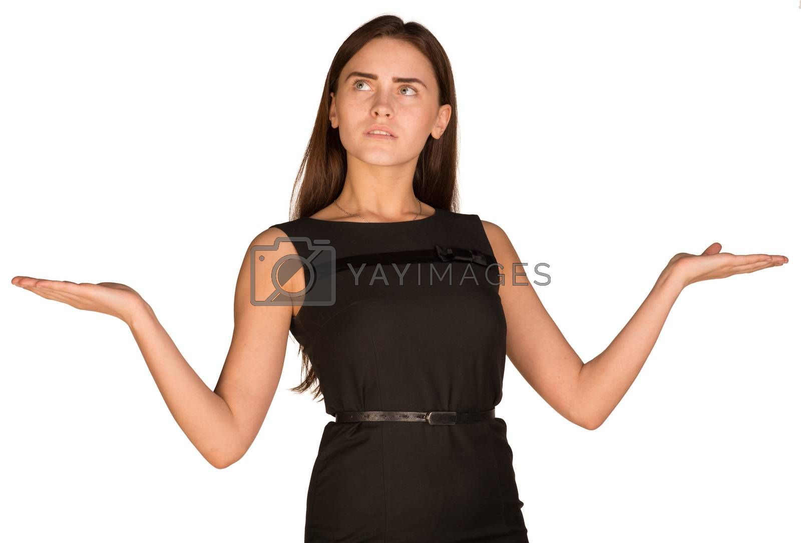 Royalty free image of Businesswoman showing empty palms by cherezoff