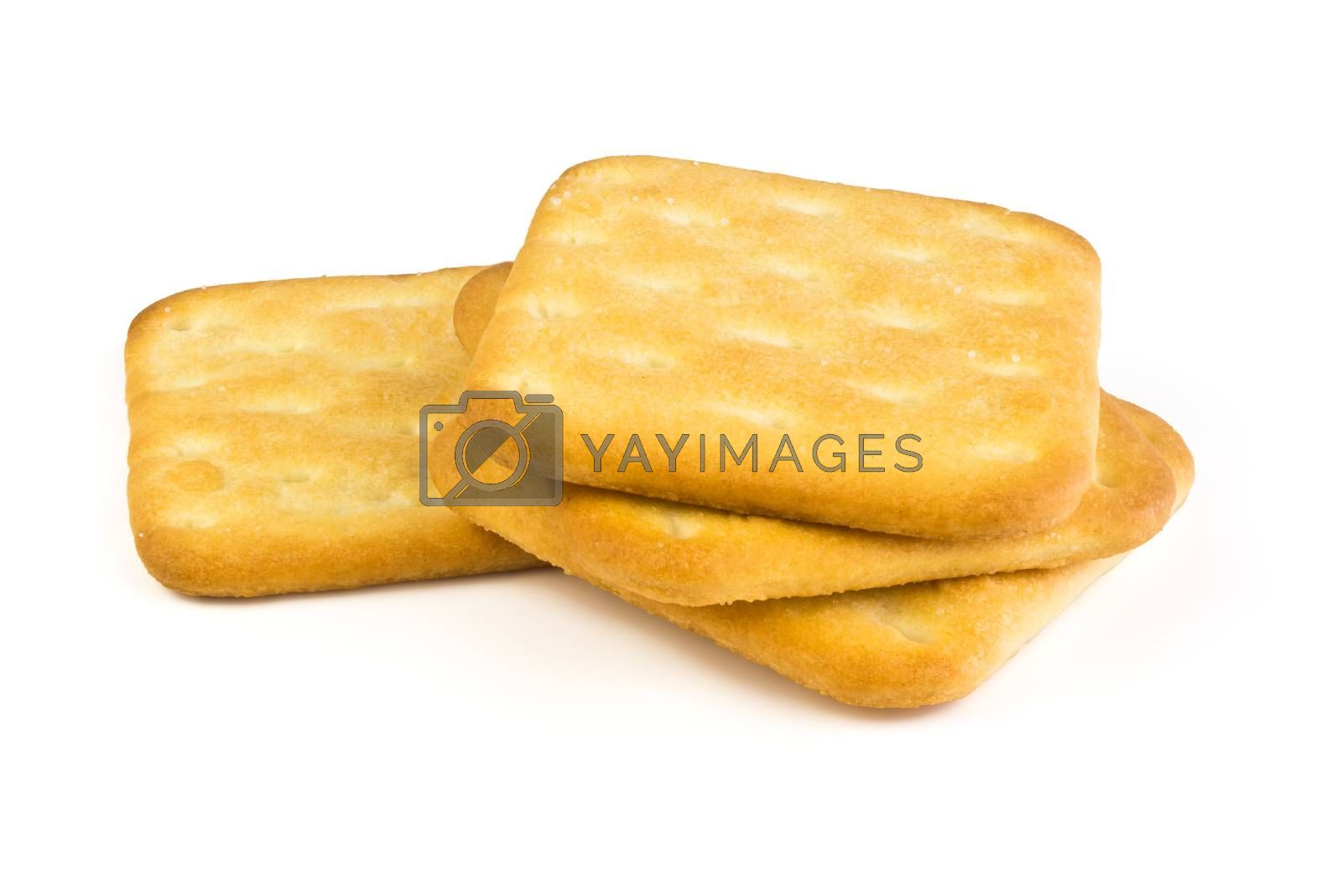 Royalty free image of Dry crackers by pilotL39