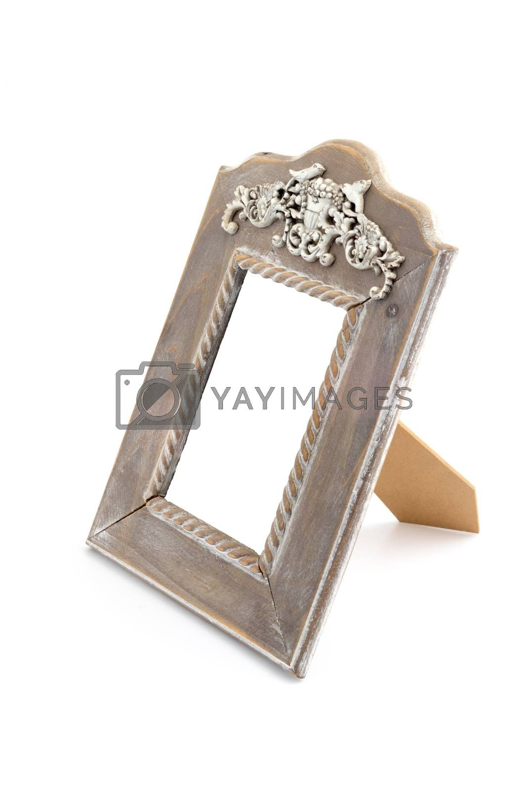 Royalty free image of Wooden vintage style photo frame by iamway