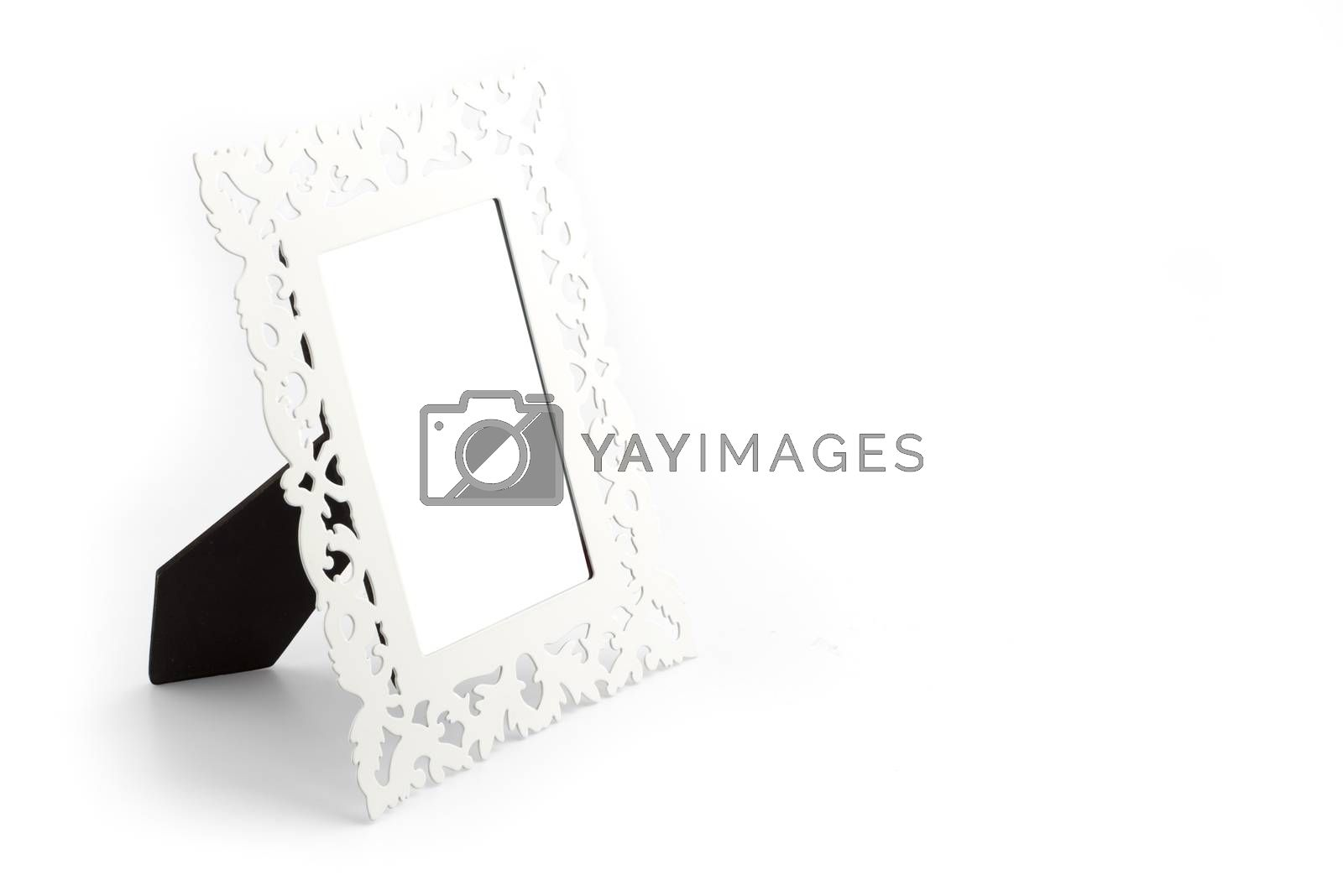 Royalty free image of Iron vintage style photo frame by iamway