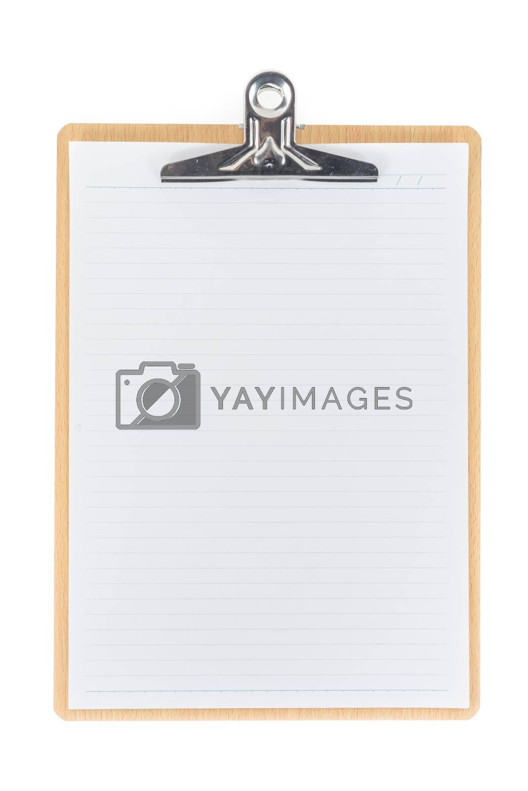 Royalty free image of Wooden Clipboard using for attach planning paper by iamway