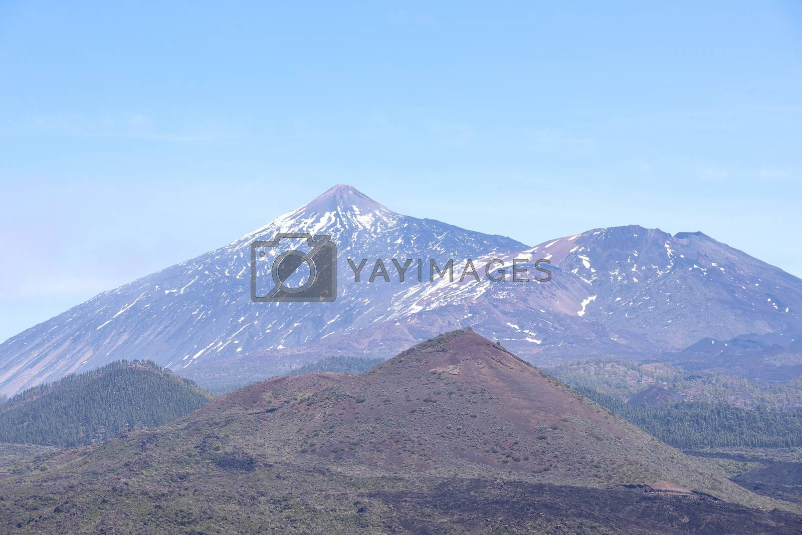 Royalty free image of Scenic view on northern side of Teide volcano by Nanisimova