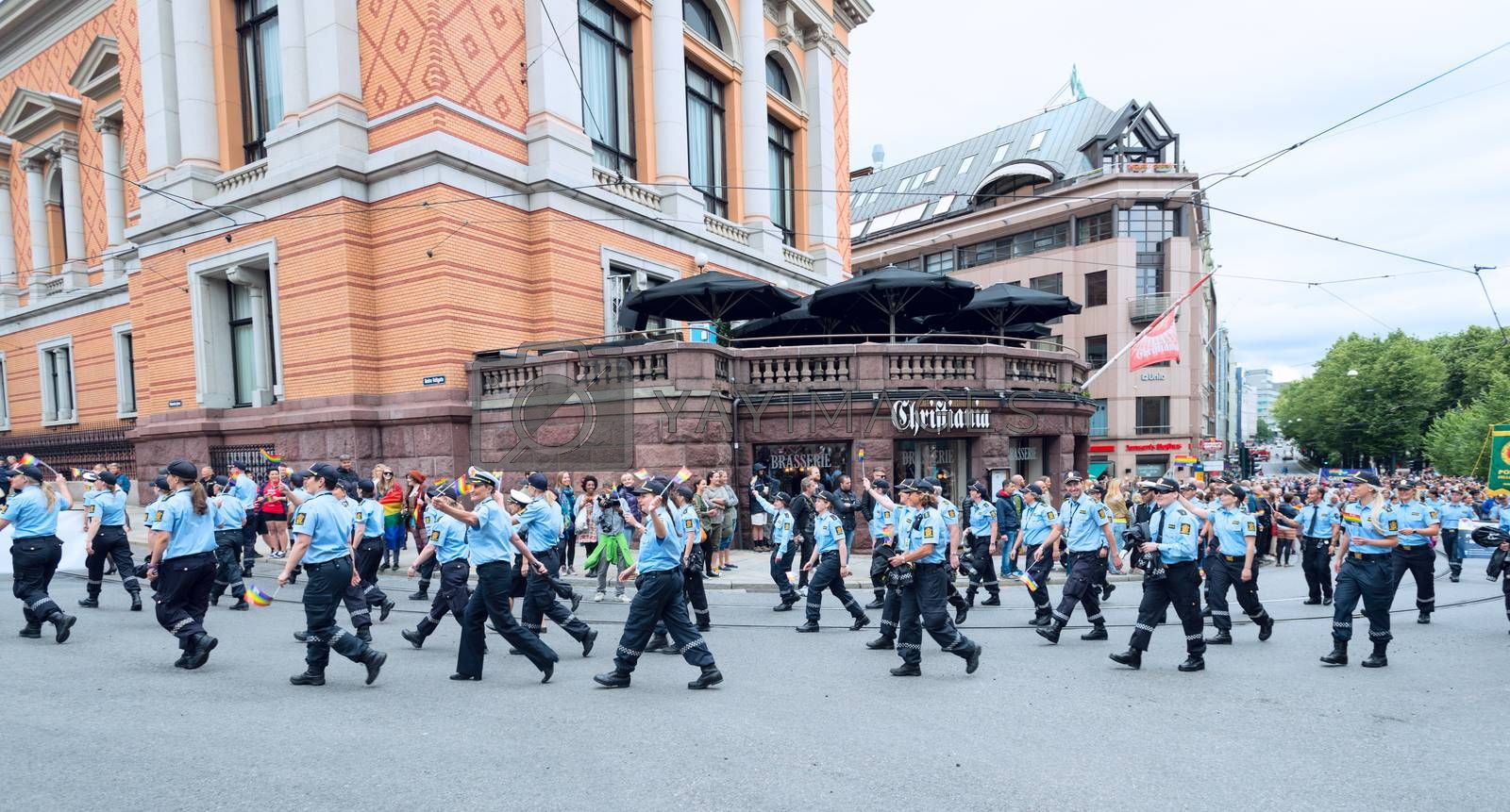 Royalty free image of Europride parade in Oslo police force by Nanisimova