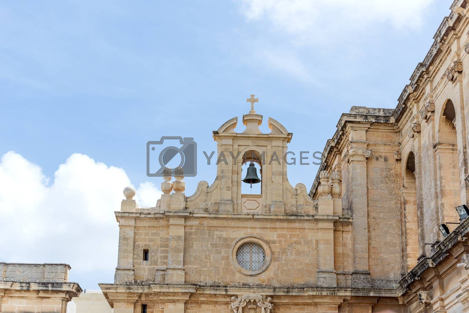 Royalty free image of Architectual details on church in Malta by Nanisimova