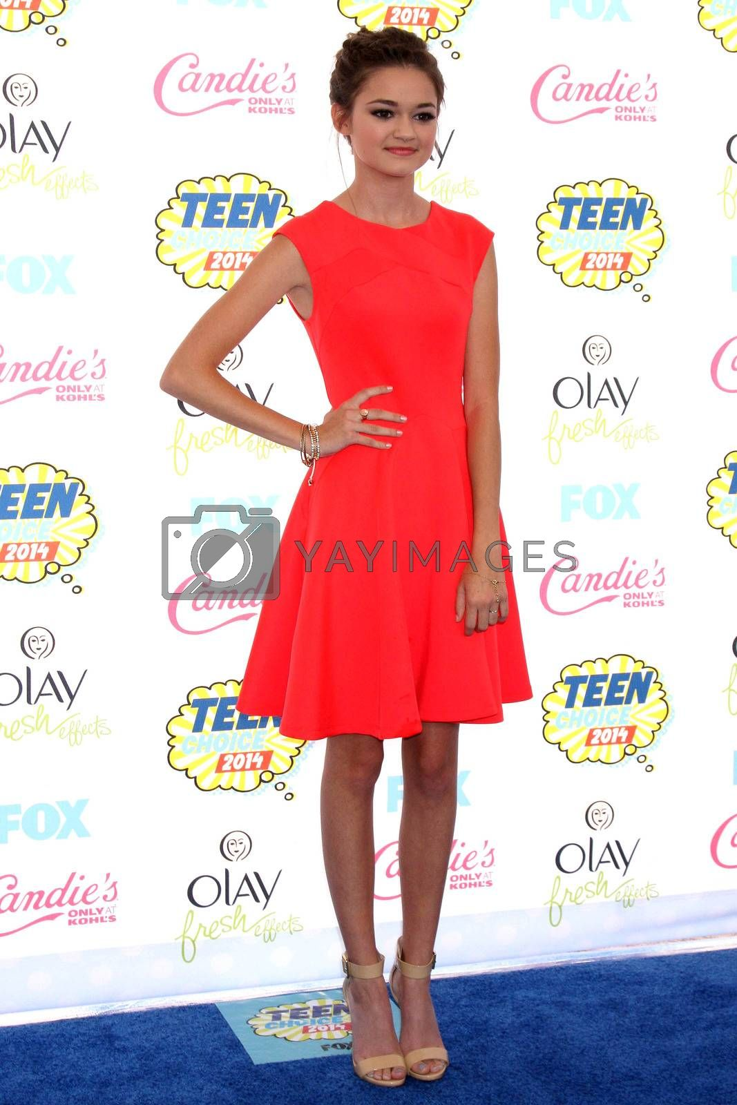 Royalty free image of Ciara Bravo at the 2014 Teen Choice Awards Arrivals, Shrine Auditorium, Los Angeles, CA 08-10-14/ImageCollect by ImageCollect