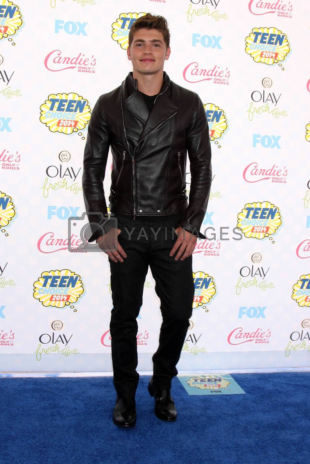 Royalty free image of Gregg Sulkin at the 2014 Teen Choice Awards Arrivals, Shrine Auditorium, Los Angeles, CA 08-10-14/ImageCollect by ImageCollect