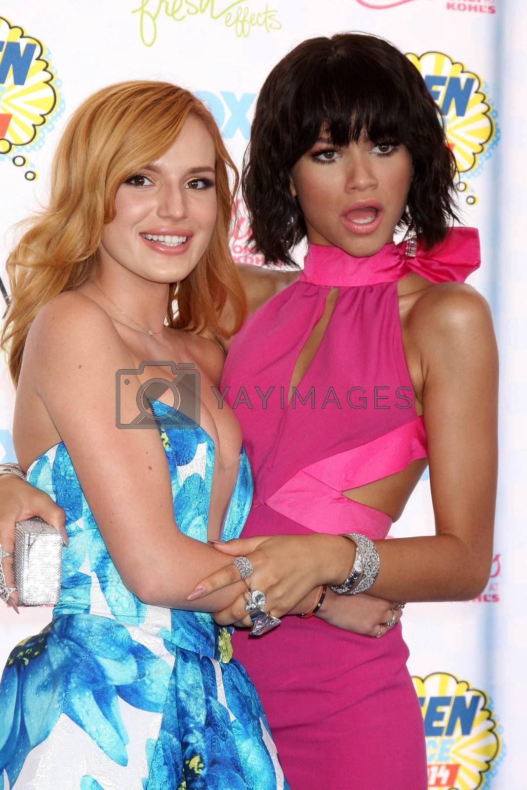 Royalty free image of Bella Thorne, Zendaya at the 2014 Teen Choice Awards Arrivals, Shrine Auditorium, Los Angeles, CA 08-10-14/ImageCollect by ImageCollect