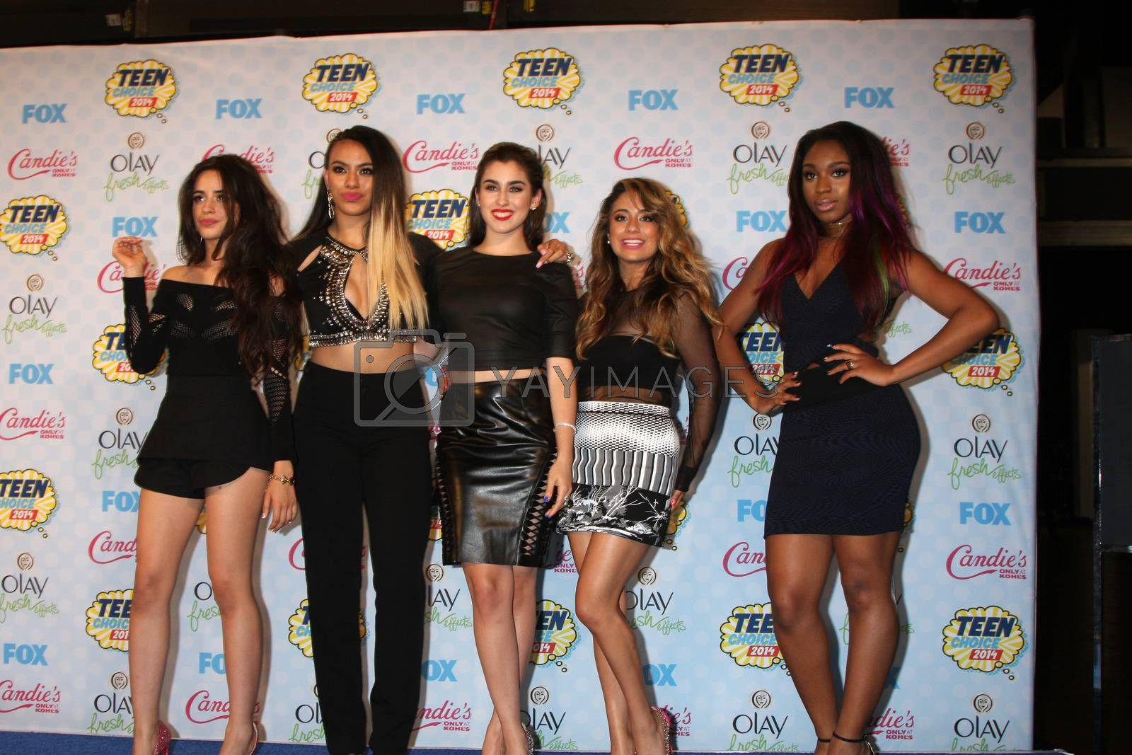 Royalty free image of Fifth Harmony at the 2014 Teen Choice Awards Press Room, Shrine Auditorium, Los Angeles, CA 08-10-14/ImageCollect by ImageCollect