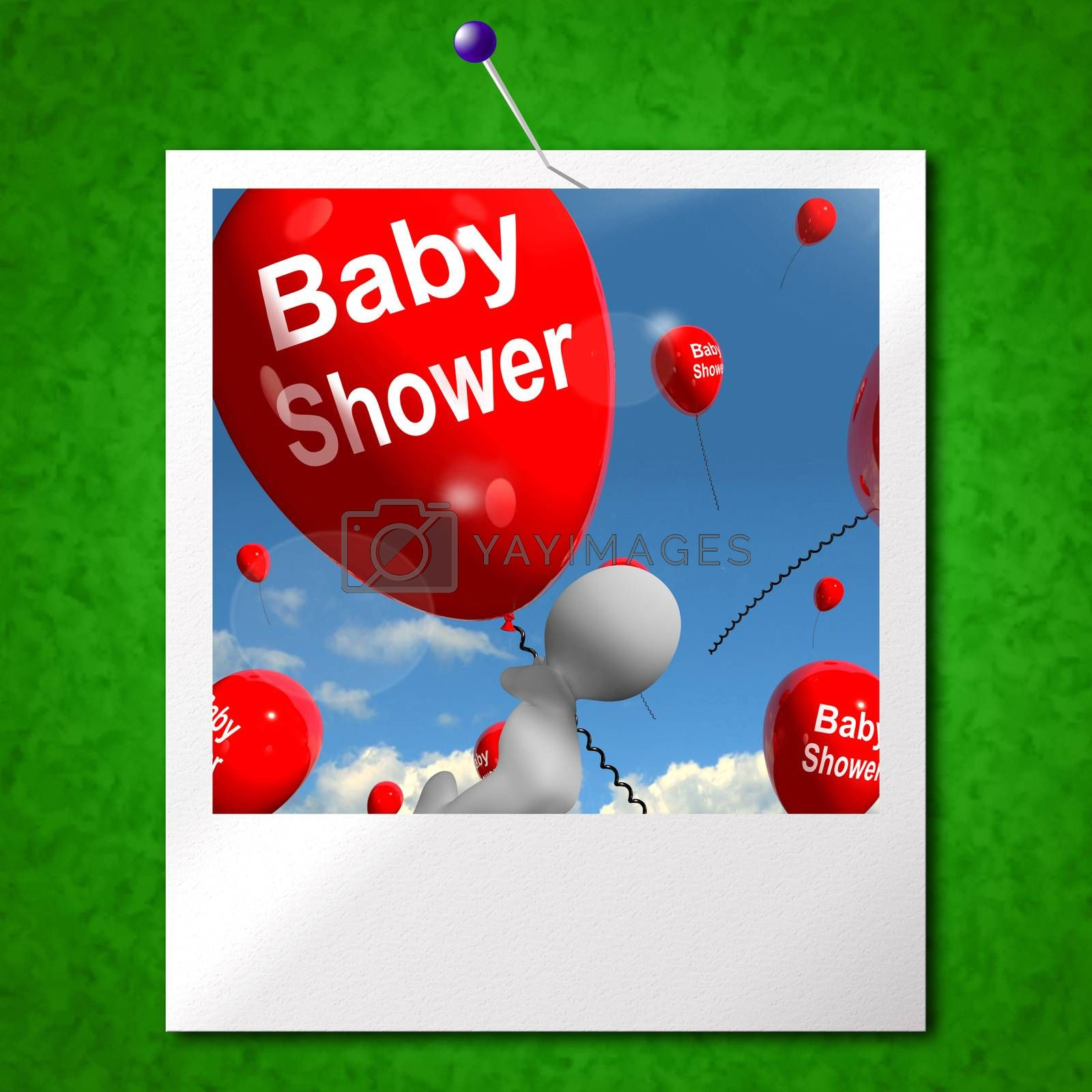 Baby Shower Balloons Photo Showing Cheerful Parties and Festivities