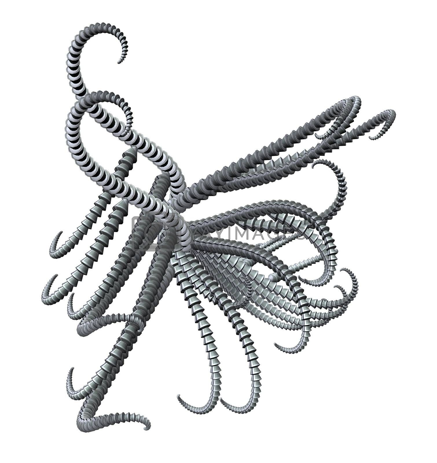 Royalty free image of metal tentacles by drizzd