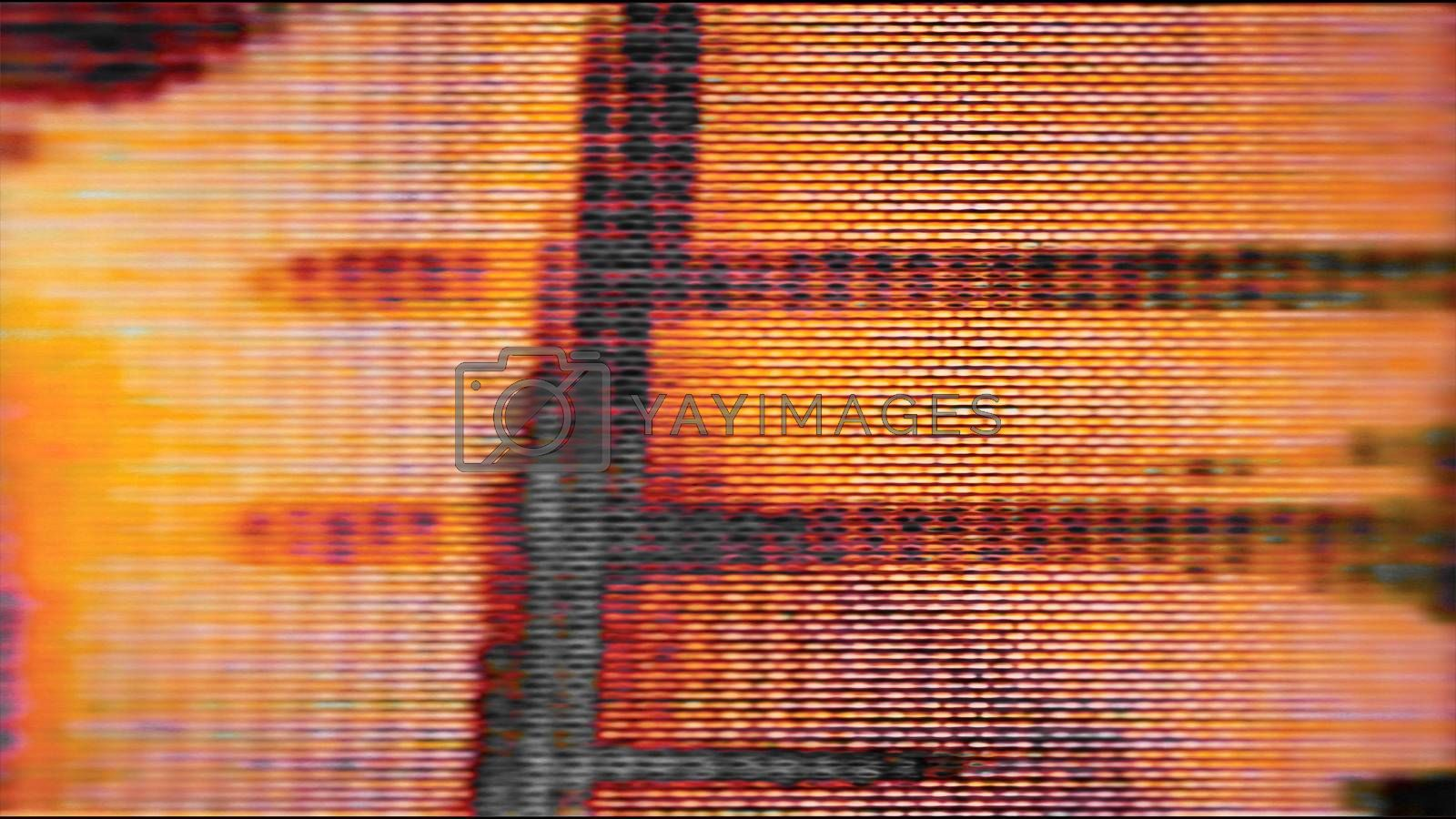Future Tech 0433 - Futuristic technology screen communication with abstract noise.