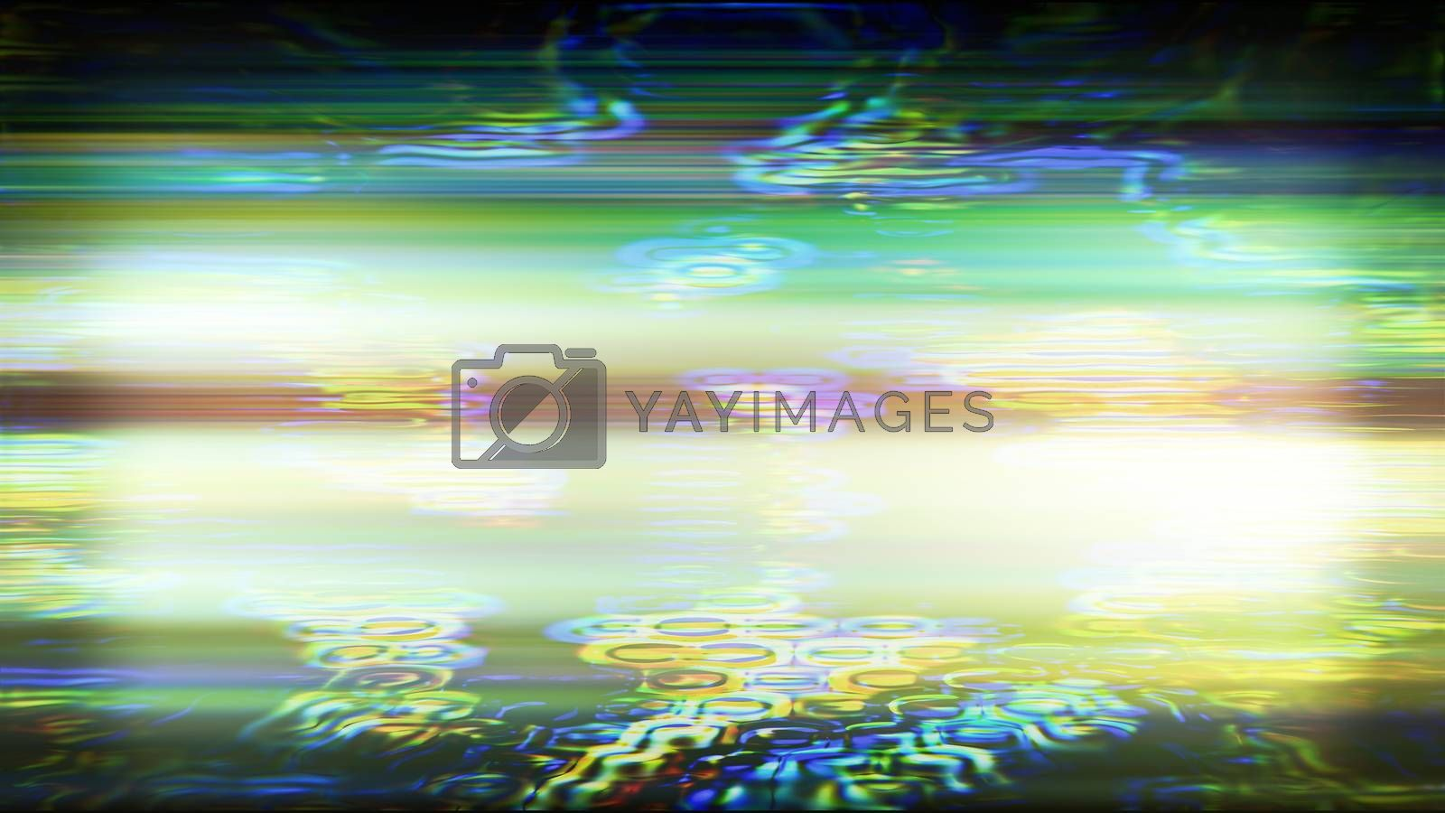 Future Tech 0436 - Futuristic technology abstract screen with digital noise and light effects.