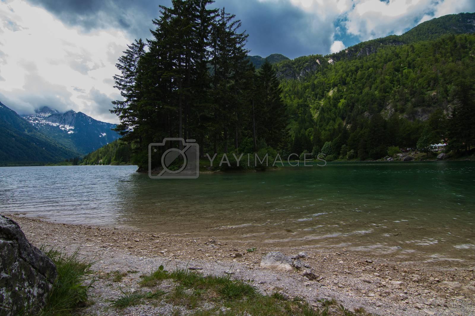 Lake Predil. Province Udine.Italy