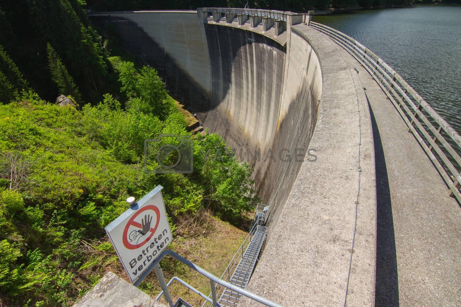 Dam reservoir in the Alps, Austria