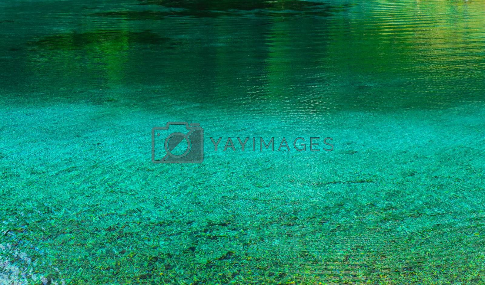 Green lake in the Austrian Alps
