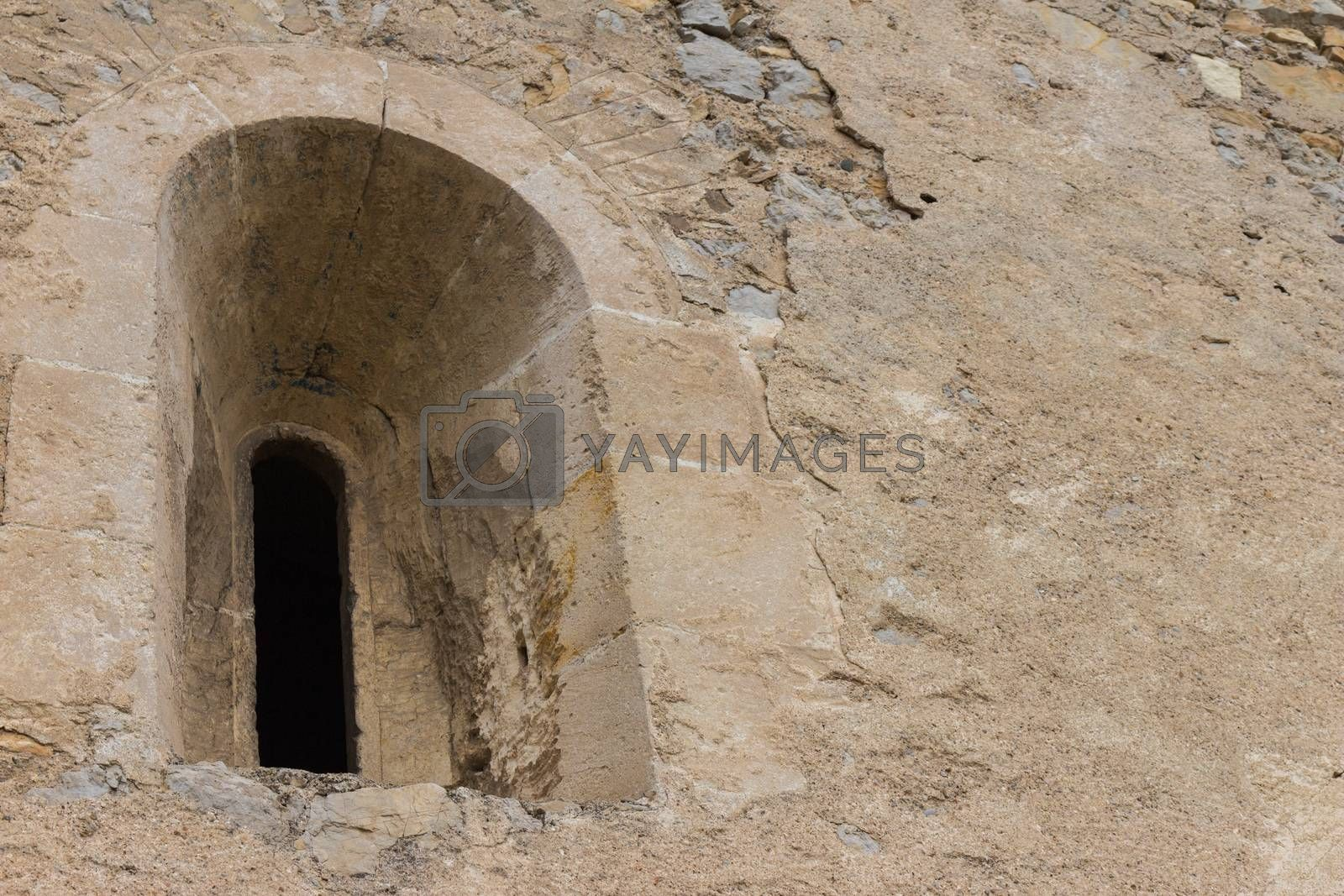 Medieval window of castle ruins in The Styria, Austria