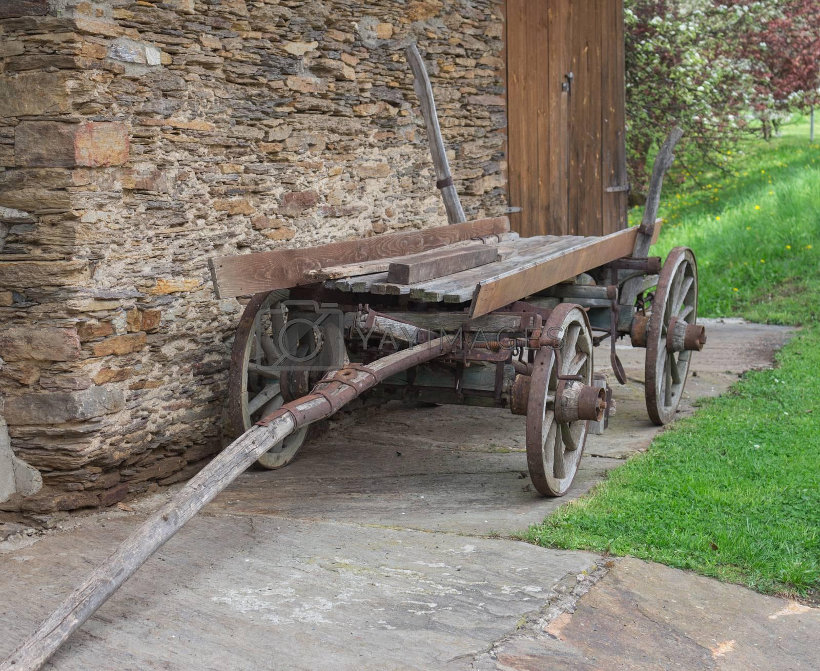 Old horse cart in Styria, Austria