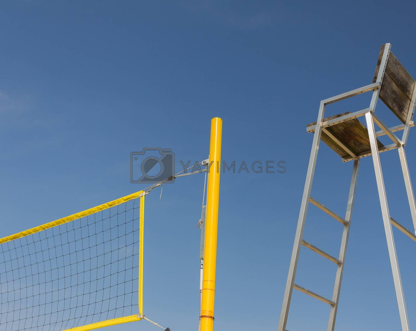 The seat of arbitration at a Volleyball playground