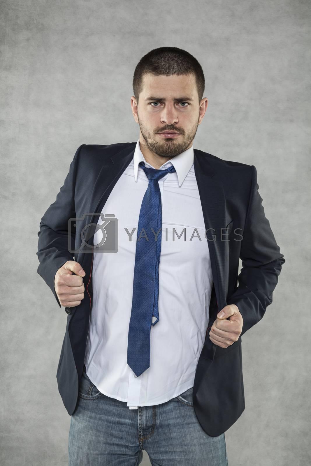Businesslman is a hero