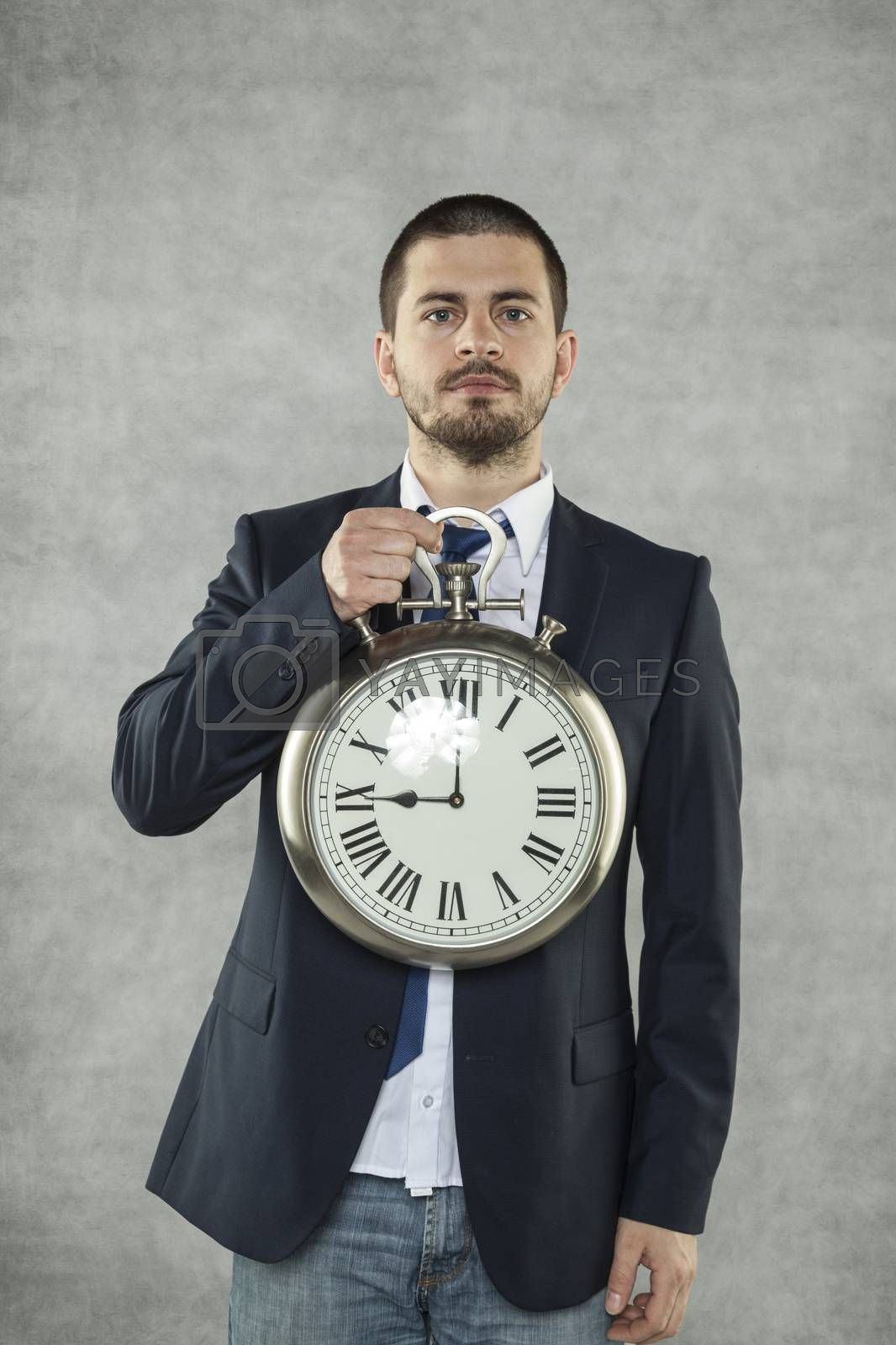 businessmna and Clock