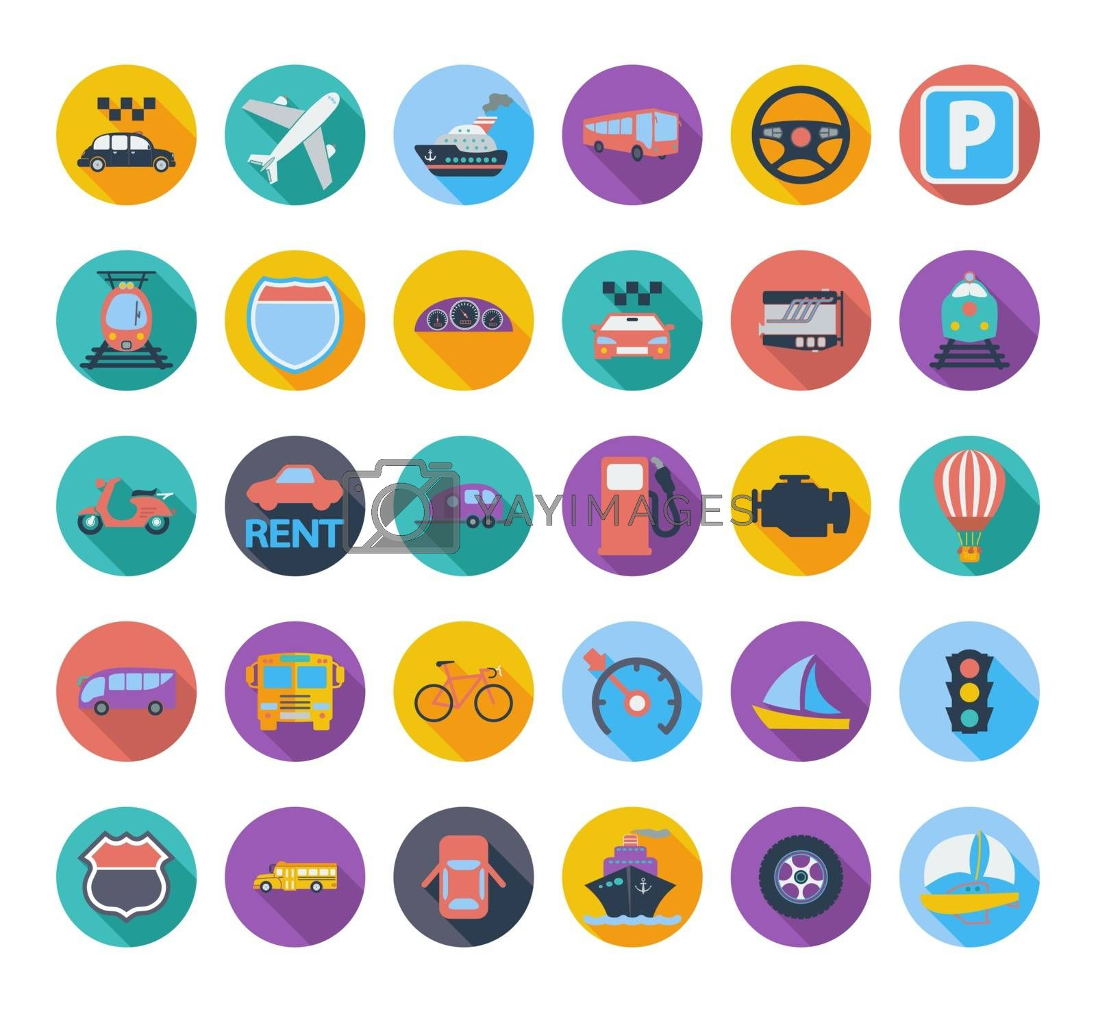 Transportation icon set. by smoki