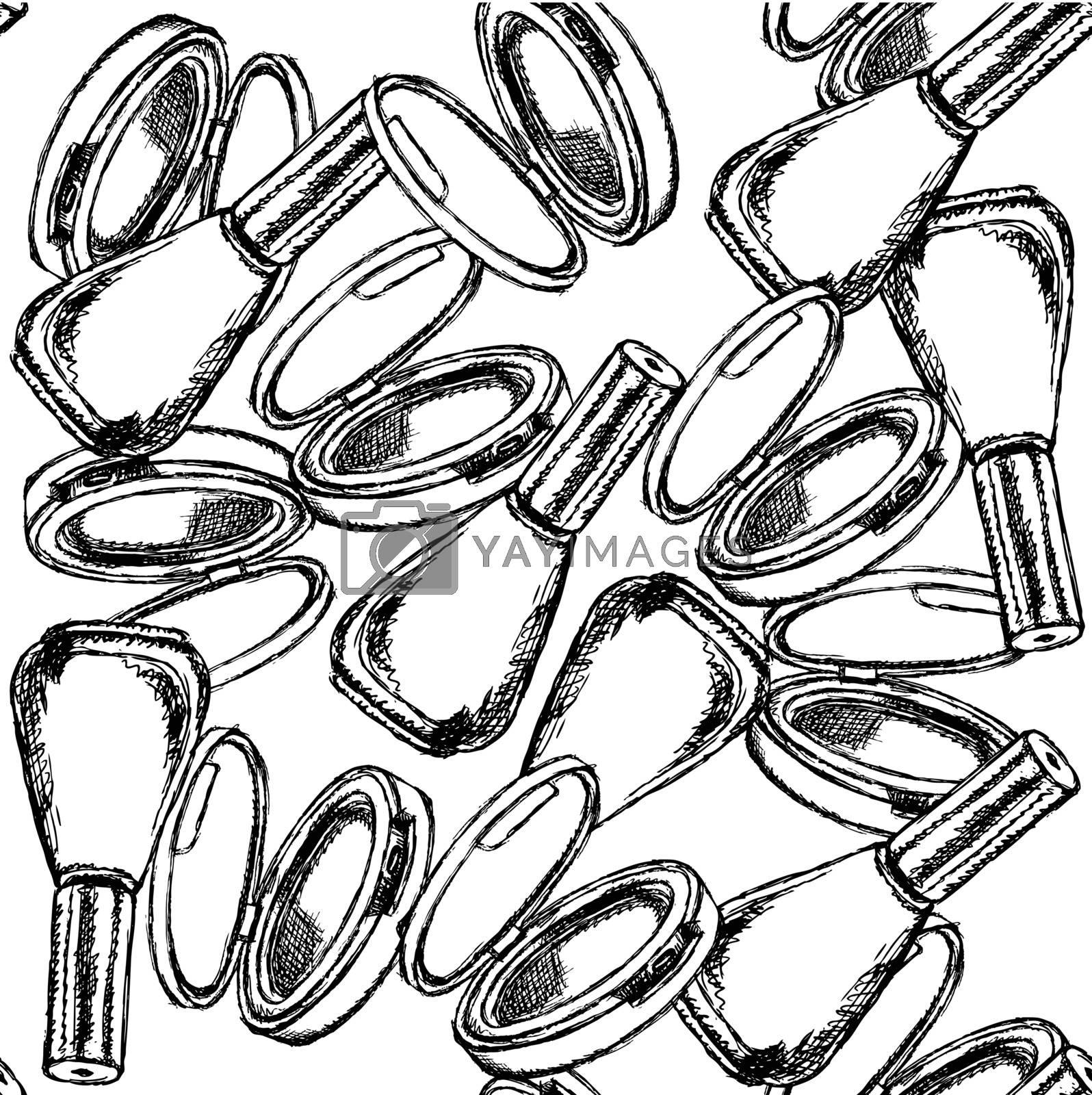 Sketch powder compact and nail polish by KaLi