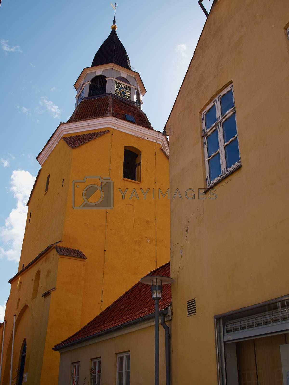 Royalty free image of Bell tower in Faaborg Funen Denmark by Ronyzmbow