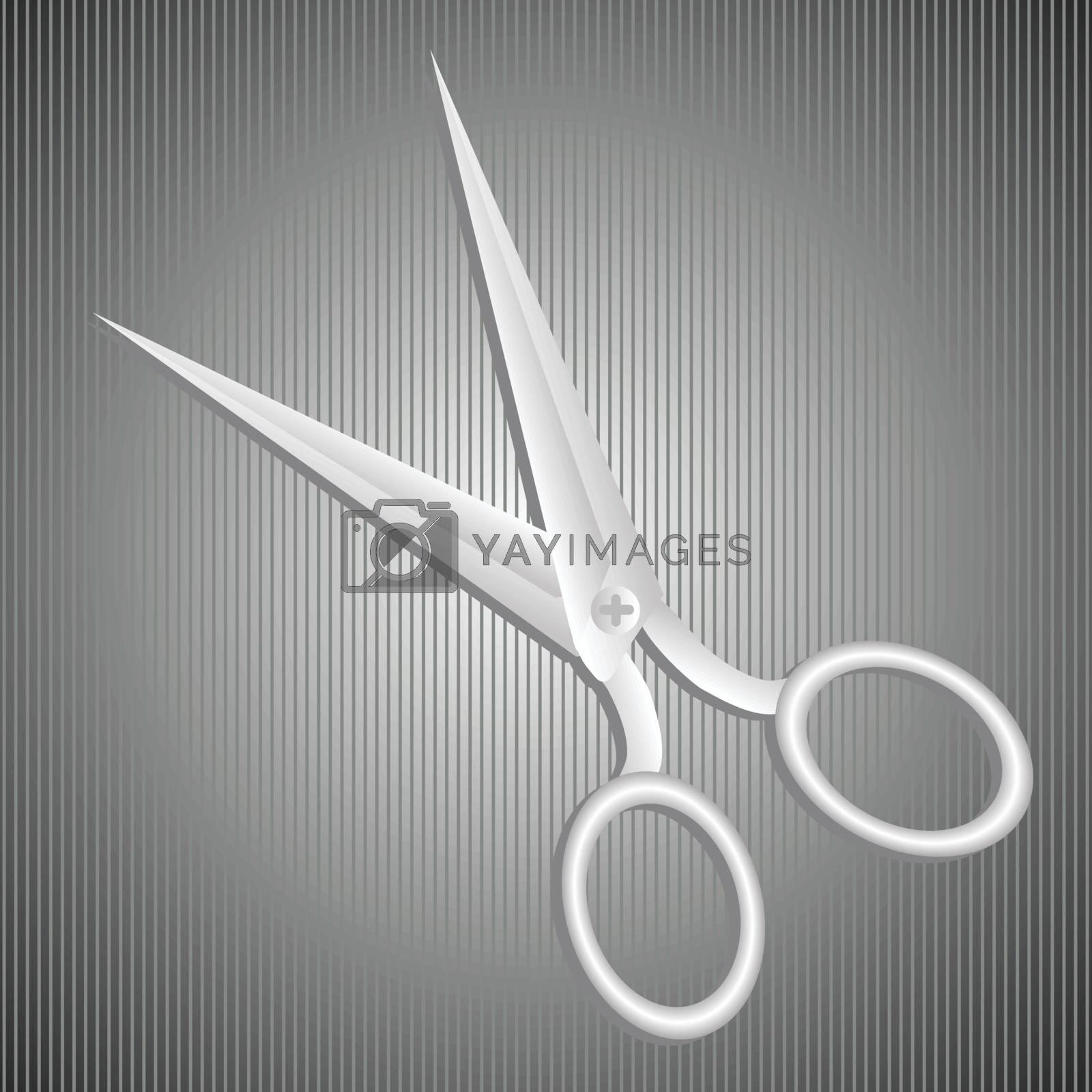 Royalty free image of metal scissors by valeo5