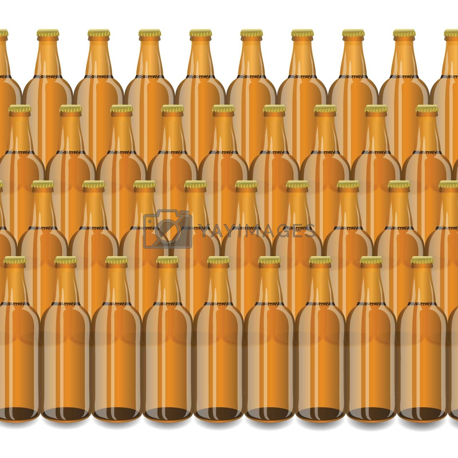 Royalty free image of Glass Beer Brown Bottles by valeo5
