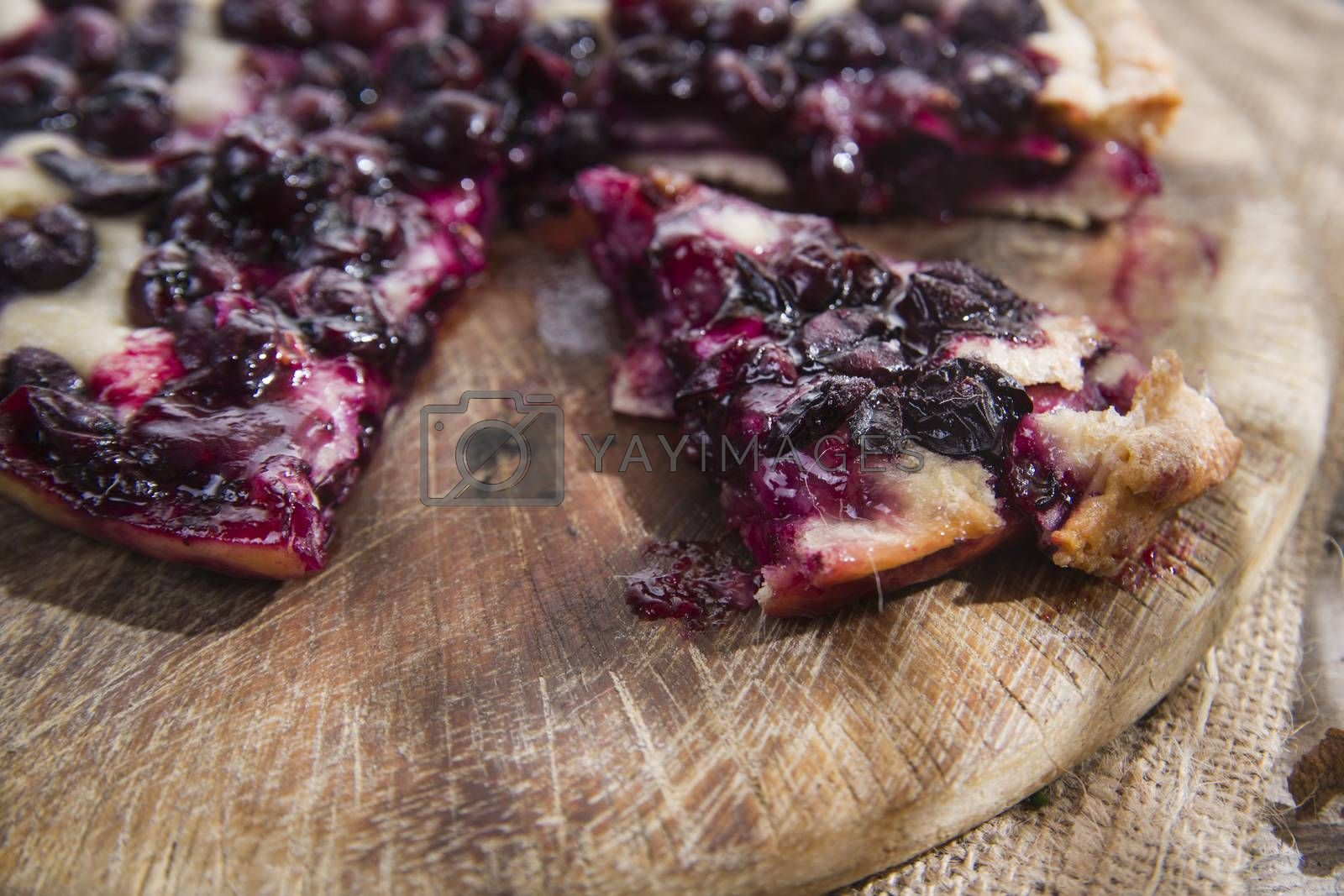 Royalty free image of Focaccia with red grape strawberry  by marcoguidiph